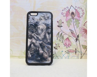 Battle of Anghiari (Da Vinci) - Rubber iPhone Case