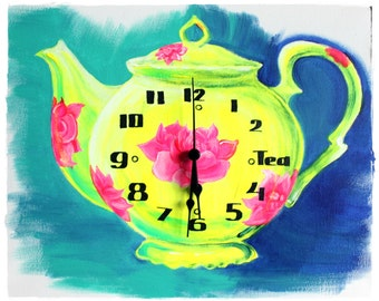Tea Time NEW Clock