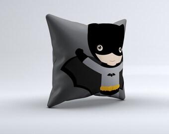 superhero throw pillow, superhero pillow, super hero throw pillow, batman pillow, kids pillow, 16x16, 18x18, 20x20,14x14 batman throw pillow