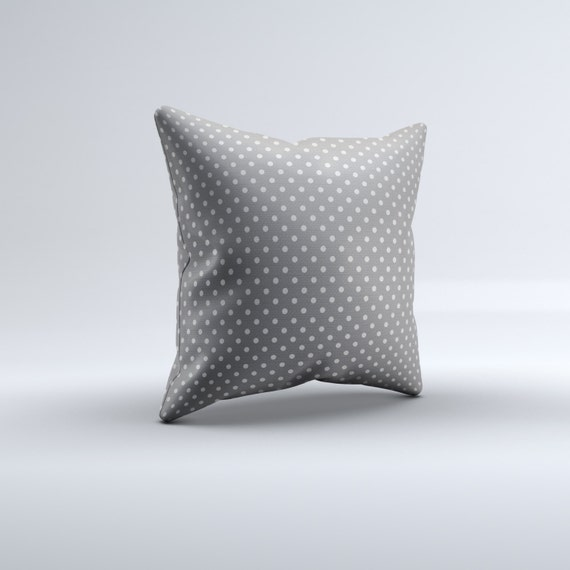gray dots throw pillow modern throw pillow grey and white. Black Bedroom Furniture Sets. Home Design Ideas