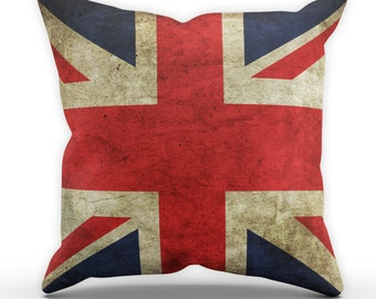 Union Jack Pillow Table Cushion Cover Case Present Gift Bed Birthday GB Great Britain Flag