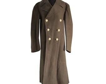 Wool MIlitary Officer 1940's Men's Coat