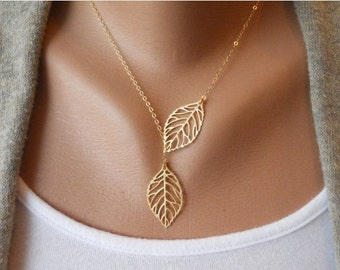Creative Fashion Vintage Big Leaf Pendant Necklace Chain