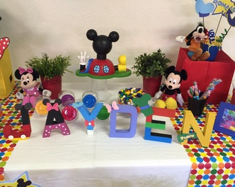 Mickey and Friends Name Letters