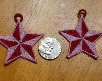 FSL Star Earrings Embroidery Design