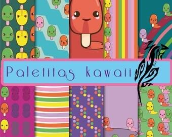 Monejo roles. Popsicle kawaii