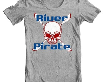 Kayaking T-shirt - River Pirate - Paddle Life Kayaking T-shirt