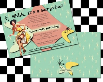 1950's Retro Party Invitation