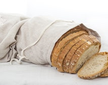 Natural Linen Bag, Reusable Bread Keeper Storage Bag For Homemade Loaves, Easter gift