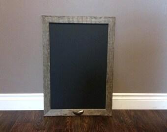 Real Barn Wood 19x27  Chalkboard, Canadian Barnwood, Framed Chalkboard, Chalkboard