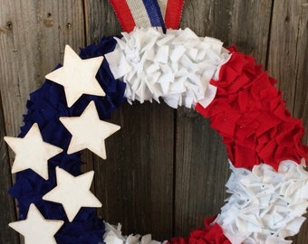 Memorial Day/4th of July patriotic wreath
