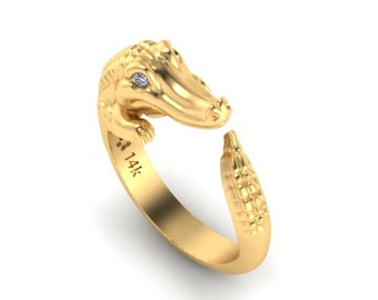 14k gold Alligator ring