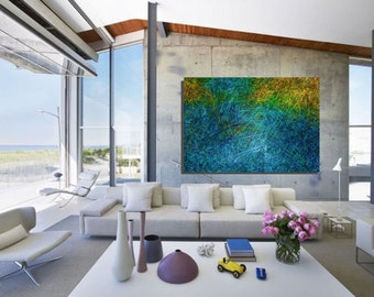 Mirage: abstract painting for 595 dollars CAD, free expedition.