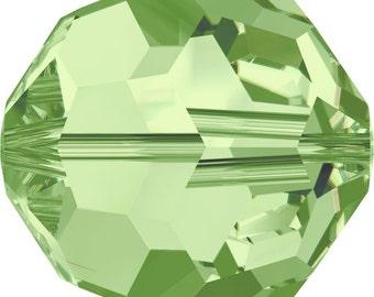 Swarovski Crystal Round Beads 5000 - 2mm 3mm 4mm 5mm 6mm 8mm 10mm - Peridot