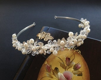 Pearl Wedding Headband, Bridal Hair Accessories, Wedding Headpiece, Tiara