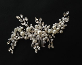Wedding Headband, Bridal Hair Accessories, Wedding Headpiece, Pearl Comb