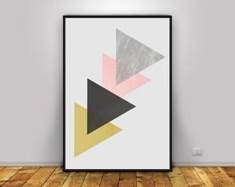 Geometric Art Print | Printable Modern Art | Minimalist art print | Scandinavian Art Poster