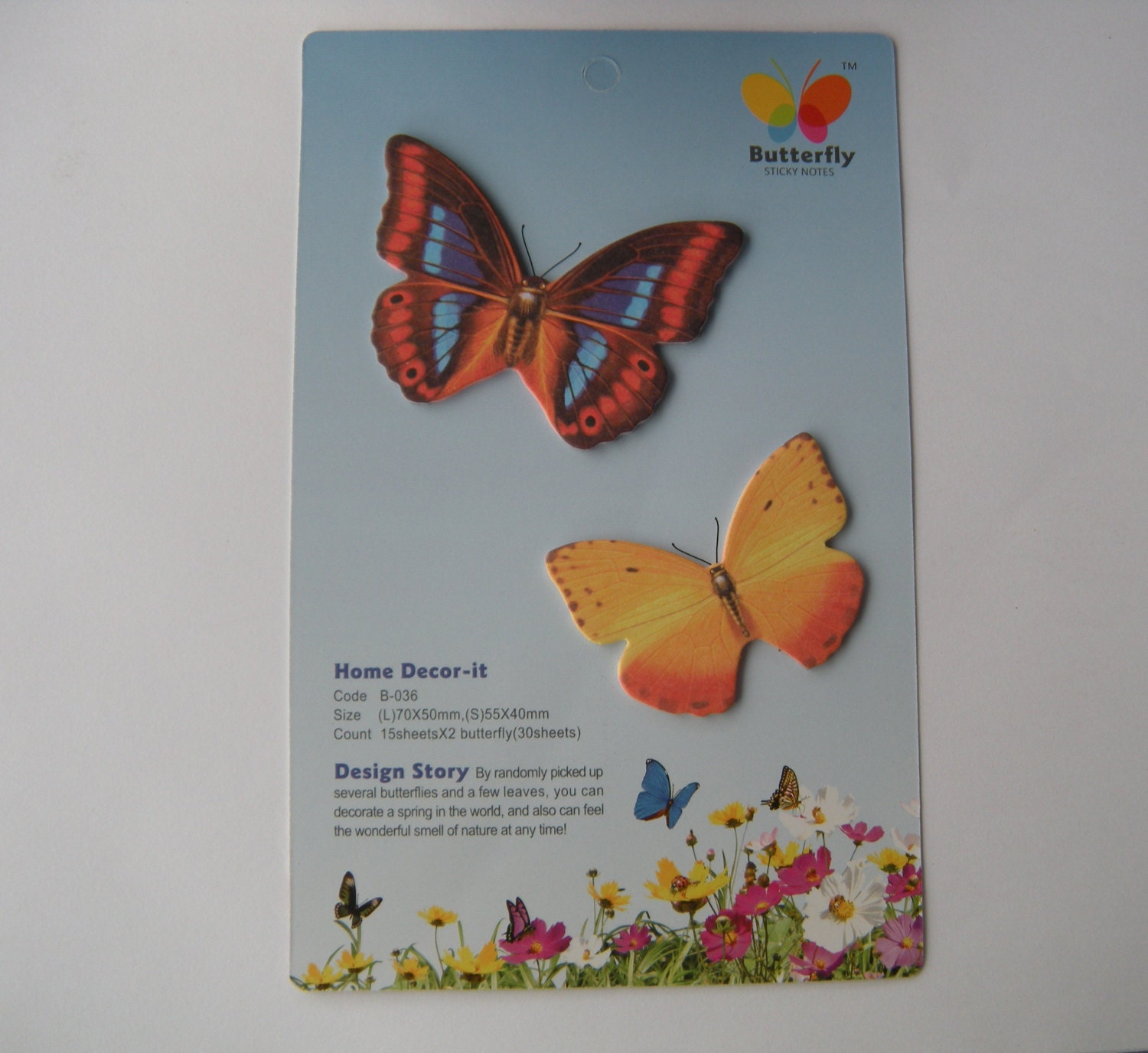 Butterfly Shaped Sticky Note Memo Pad Post Its By