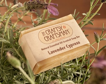 Lavender Cypress Soap Bar - Natural Essential Oil Scented