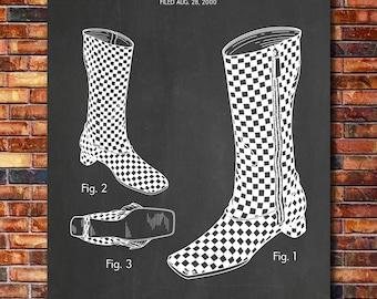 Louis Vuitton Boots Patent Print Art 2001