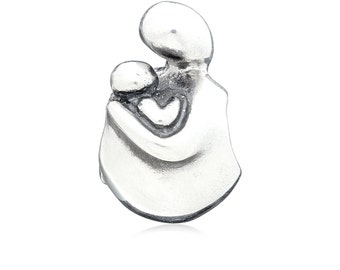 "Silver Charm-pendant Mother with child ""nurturing"""