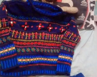 sweater cotton jacquard for ado