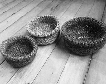 Mini Plarn Baskets