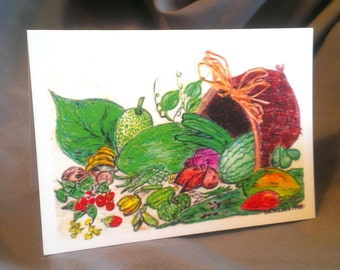 Basket of Tropical Fruits and Veggies