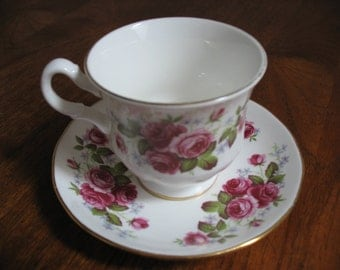 Queen Anne Fine Bone China Teacup and Saucer.