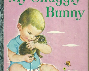"VINTAGE! 1950's Little Golden Book~My Snuggly Bunny ""(A"") 1st Ed. Eloise Wilkin"