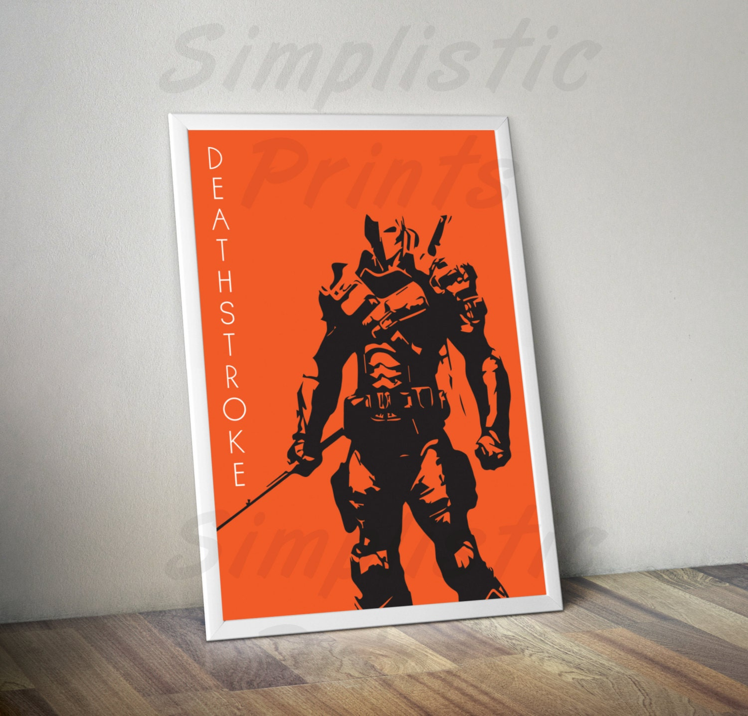 Deathstroke minimalist poster wall art comic book art 8x10 for Minimal art book