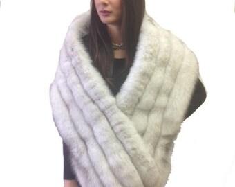 Blue Fox Fur Stole / Shawl