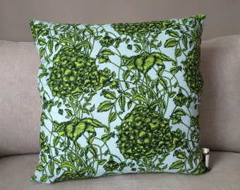 Large Green Flower Pillow Cover