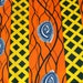 African Ankara Fabric, African Print Fabric, Orange African Cloth, 2 Yards African Cloth, High Target Africa Wax Print, African Dress fabric