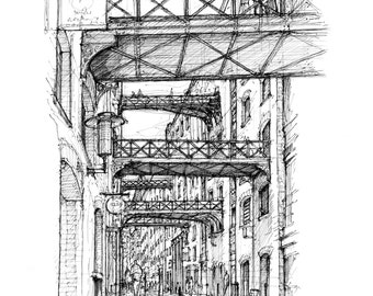 Shad Thames, London - Limited edition archival print