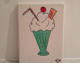 Ice Cream Sundae Canvas