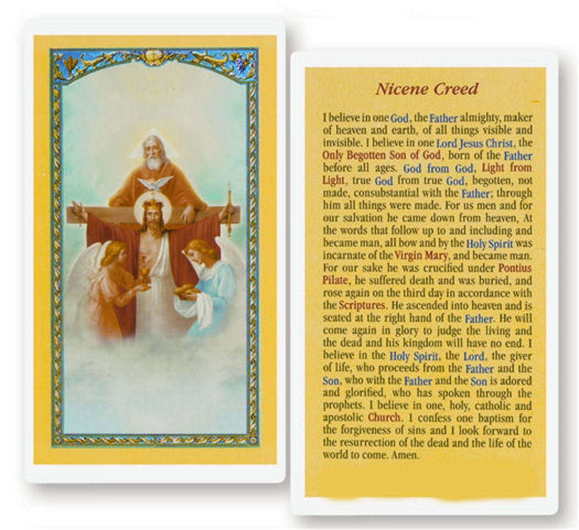 Nicene Creed Laminated Holy Card Set Of 10 Hc 213 From