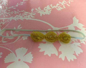 """14"""" mini gold rosette infant headband"""