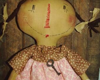 Primitive Raggedy Doll with Braids