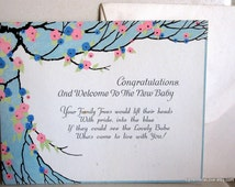 Antique Congratulations New Baby Card, Complete with Envelope, Brand New