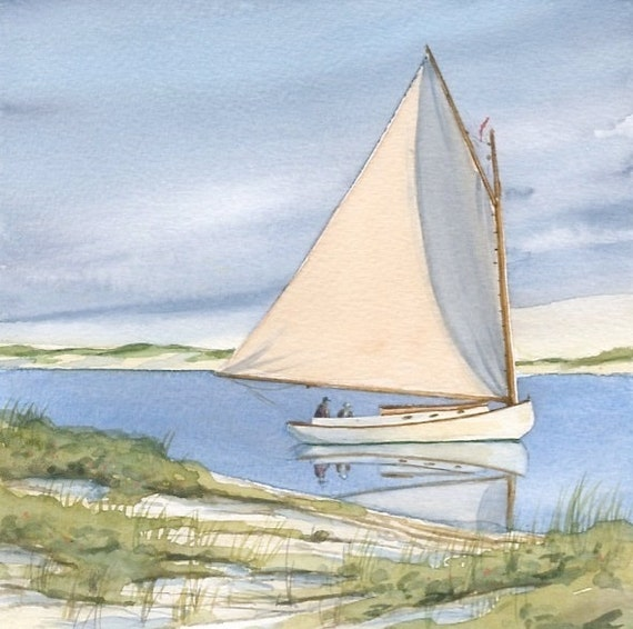 Cape Cod Water Color Giclee Print From Original Painting