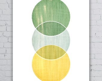 3rd Circle - Wall Art Poster // Simple Abstract // Geometric Shapes // Pattern // Minimalist Home Decor // Scandinavian art // Home Decor