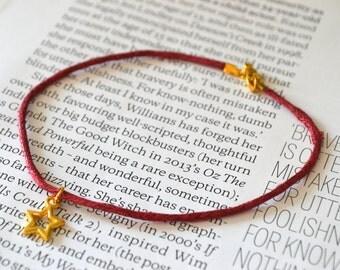Shooting star / Key to my heart charm friendship bracelet