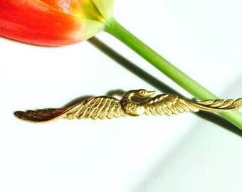 Gold Swan Hair Pin, Gold Bobby Pin, Gold Barrette, Swan Bobby Pin, Swan Barrette, Gold Swan, Bird Bobby Pin, Bird Barrette, Mothers Day