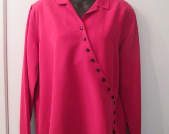 Christopher  Banks early Size M asymmetrical overblouse with great detaling.