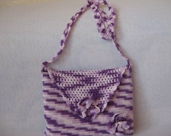 Knitted bag for summer from natural yarn