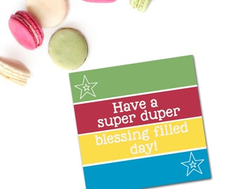 Christian Birthday Greeting Card - Super Duper Blessing Filled - Boy