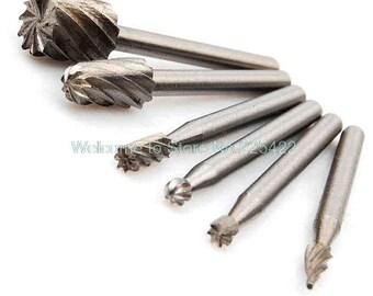 6pcs dremel rotary tool mini drill tools for woodworking drill bit set wood tools knife wood carving tools kit accessories