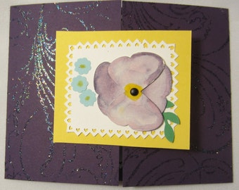 Pansy Birthday Card