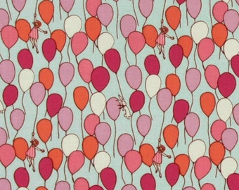 Children at Play Balloons Fabric - sold by the 1/2 yard